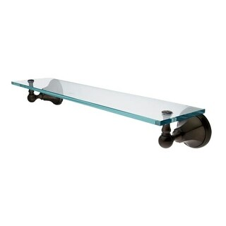 """Elements of Design EBA4819ORB 20"""" Wall Mounted Glass Shelf from the New York Collection - n/a"""