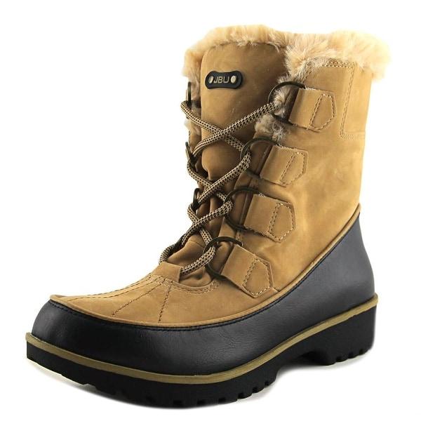 JBU by Jambu Manchester Women Round Toe Leather Tan Snow Boot