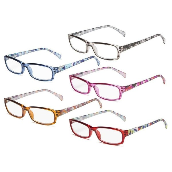 Eyekepper 5Pcs Ladies Reading Glasses Spring Hinge Pattern Design. Opens flyout.