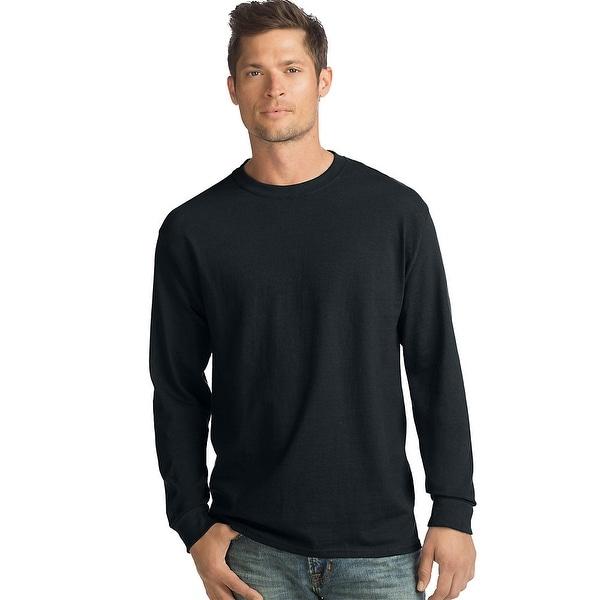 e13f36e64 Shop Hanes ComfortSoft® Men's Long-Sleeve T-Shirt 4-Pack - Color ...