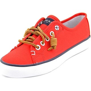 Sperry Top Sider Seacoast Women Canvas Red Fashion Sneakers