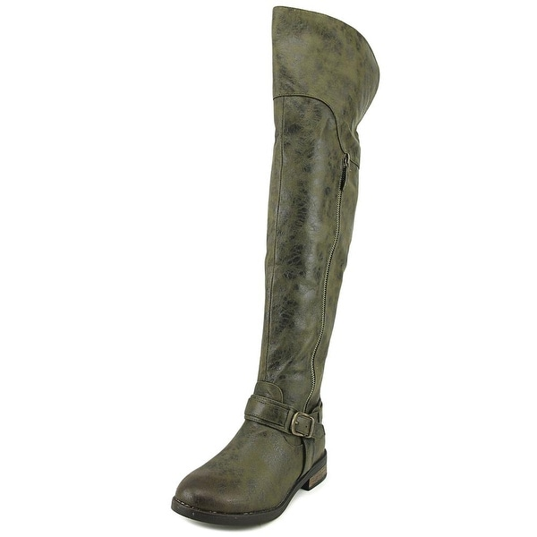 Restricted Paintbrush Women Round Toe Synthetic Brown Knee High Boot