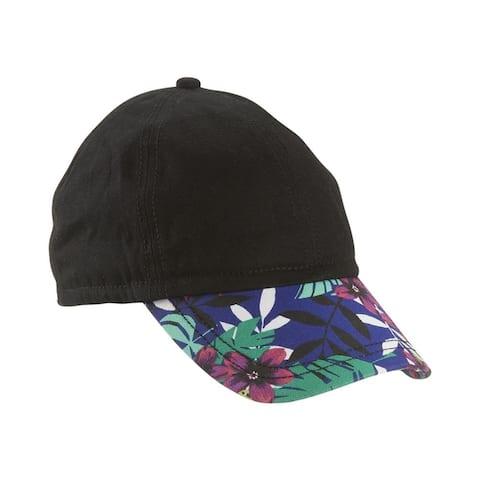 Aeropostale Womens Tropical Cinch Baseball Cap, Black, One Size - One Size