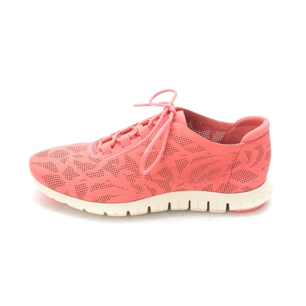 Cole Haan Womens Jazlynsam Low Top Lace Up Fashion Sneakers, Pink, Size 6.0