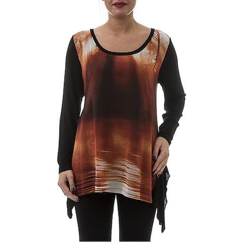 LA MOUETTE Women's Plus Size Asymmetrical Knit Tunic