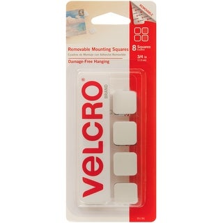 """Velcro(R) Brand Removable Mounting Squares .75""""-8/Pkg"""