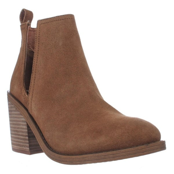 Steve Madden Sharini Cutout Pull On Ankle Boots, Chestnut