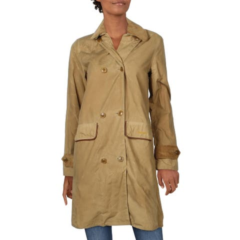 Barbour Womens Coat Double-Breasted Cotton - Sand