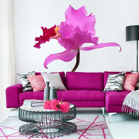 Lilac Orchid Wall Decal, Lilac Orchid Wall sticker, Lilac Orchid wall decor