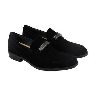 Calvin Klein Dougie Oily Mens Black Suede Casual Dress Slip On Loafers Shoes