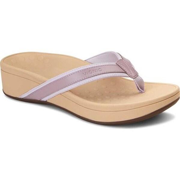 48221cef5 Shop Vionic Women's High Tide Toe Post Sandal Mauve Leather/Textile ...
