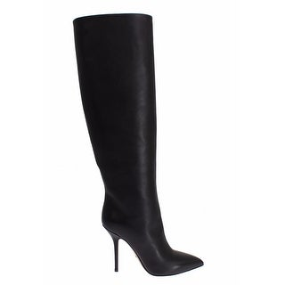 Dolce & Gabbana Black Boots Leather High Heels - 39