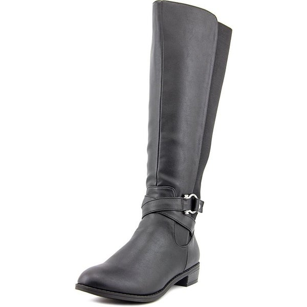 Karen Scott Davina Women Round Toe Synthetic Black Knee High Boot