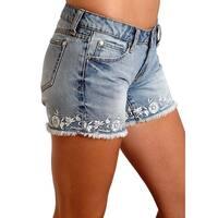 Stetson Western Shorts Womens Denim Boyfriend Blue