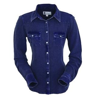 Outback Trading Western Shirt Womens Dana Blouse Long Sleeve 42158