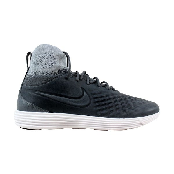 46f5be517114 Shop Nike Men s Lunar Magista II 2 Flyknit Dark Grey Dark Grey-Wolf ...