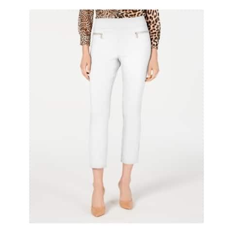 INC Womens White Solid Straight leg Pants Size 6