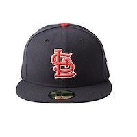 pretty nice c27bc 4ceb7 New Era Mens St Louis Cardinals Authentic On Field 59Fifty Fitted Hat, Navy