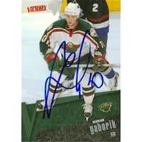 Marian Gaborik Autographed Hockey Card Minnesota Wild 2003 Ud