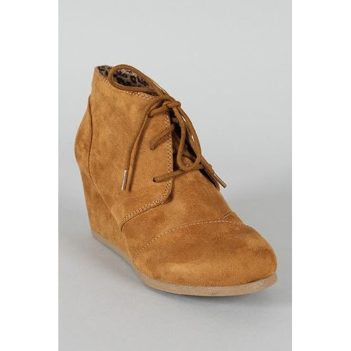 Rex Lace Up Ankle Bootie Wedge