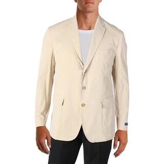 Polo Ralph Lauren Mens Three-Button Blazer Single Vent Notch Collar
