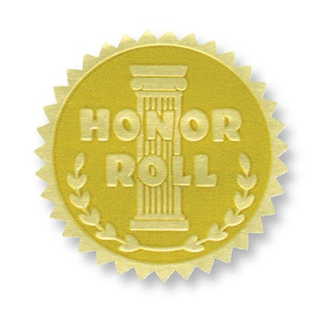 (3 Pk) Gold Foil Embossed Seals Honor Roll
