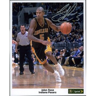 Signed Rose Jalen Indiana Pacers 8x10 Promo Photo autographed