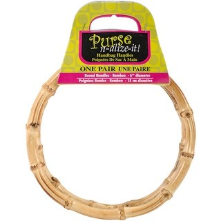 """Bamboo Handbag Handles 6"""" Round 2/Pkg-Natural"""