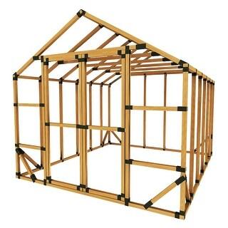 10X12 Standard E-Z Frame Greenhouse or Storage Shed Kit - Black - 10'x12'