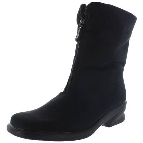 Toe Warmers Womens Michelle Winter Boots Waterproof Fleece Lined - Black