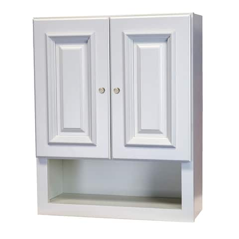 2126 Linen White Bathroom Wall Cabinet