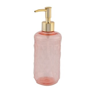 Household Bathroom Plastic Lotion Liquid Soap Pump Sanitizer Dispenser Pink