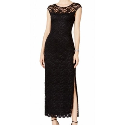 0a316c34daafa Shop Connected Apparel NEW Black Illusion Lace Maxi Women s Size 6 Dress -  Free Shipping On Orders Over  45 - Overstock - 18372166