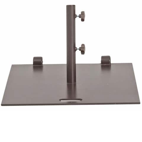 Alpine 78-lb Square Wheeled Umbrella Base with 2 Separate Poles by Havenside Home
