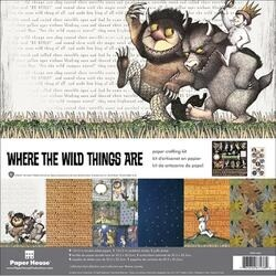 """Where The Wild Things Are - Paper House Paper Crafting Kit 12""""X12"""""""