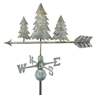 """31"""" Luxury Blue Verde Into the Forest Pine Trees Weathervane"""
