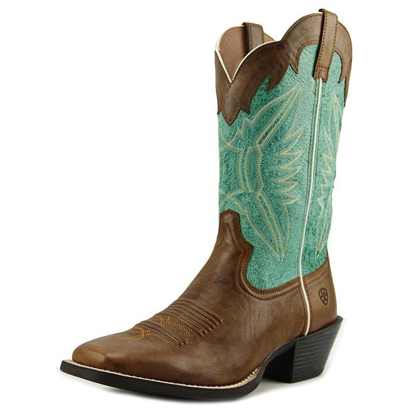 Ariat Round Up Outfitter Square Toe Leather Western Boot