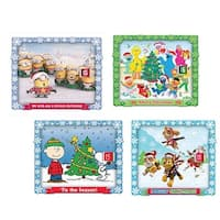 """Club Pack of 12 Vibrantly Colored Christmas Themed Advent Calendar 9.5"""" - BLue"""