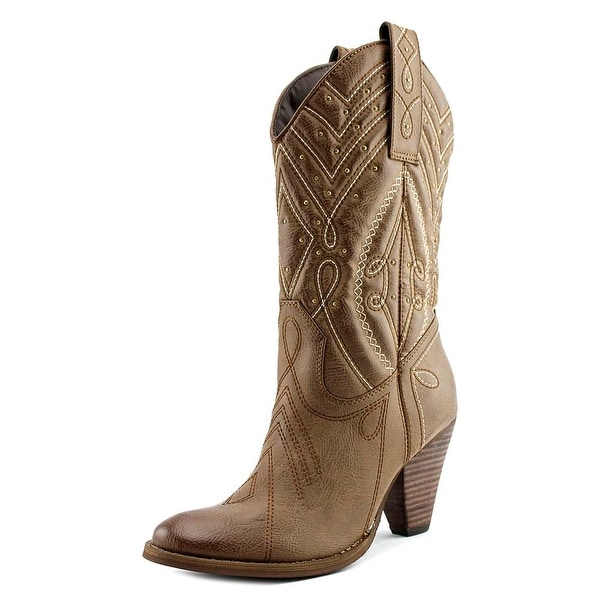 Very Volatile Zala Pointed Toe Synthetic Western Boot