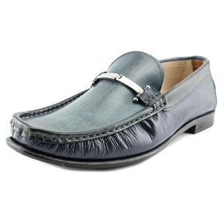 Kenneth Cole NY In The Zone Men  Moc Toe Leather Blue Loafer