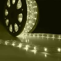 Onebigoutlet 50' FT LED Rope Light 2-Wire, Waterproof, Warm White