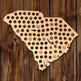 Giant XL South Carolina Beer Cap Map