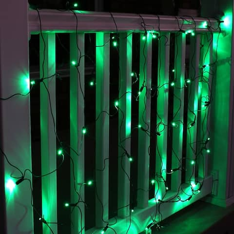 Sunnydaze 5mm Wide Angle 6-foot x 4-foot LED Netted Lights - 70Ct - 6-foot x 4-foot