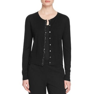 Magaschoni Womens Cardigan Sweater Silk/Cashmere Blend Embellished - s