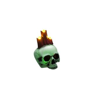 Glow Skull With Candles Halloween Prop Decoration