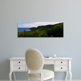 Easy Art Prints Panoramic Images's 'Trees in the forest, North Shore, Lake Superior, Minnesota, USA' Canvas Art