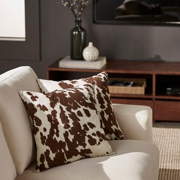 Decor Cow Hide Print 18 Inch Throw Pillow by iNSPIRE Q Bold (set of 2). Opens flyout.