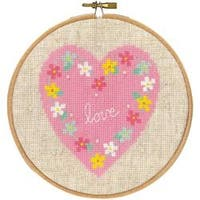 """5.8"""" Round 14 Count - Love On Aida Counted Cross Stitch Kit"""