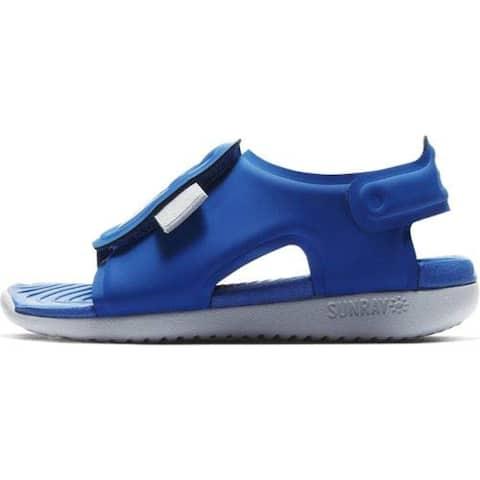 Nike Boy's Sunray Adjust 5 Toddler Sandal, Black/White, Size 3 M US Infant