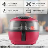 DELLA Air Fryer 10 Quart 1200 WATT Rotisserie Griller Roaster Oil Less Home Kitchen Red